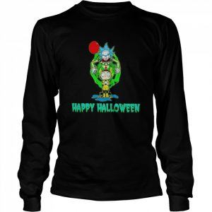 Rick and Morty Happy Halloween  Long Sleeved T-shirt