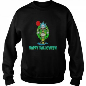 Rick and Morty Happy Halloween  Unisex Sweatshirt