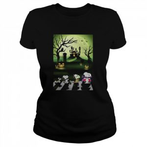 Snoopy Abbey Road Halloween Moon  Classic Women's T-shirt