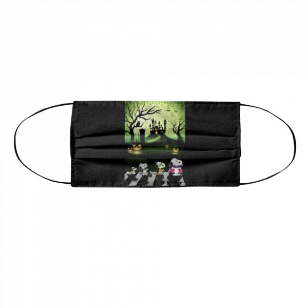 Snoopy Abbey Road Halloween Moon  Cloth Face Mask