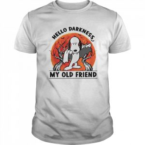 Snoopy Dracula Hello Darkness My Old Friends  Classic Men's T-shirt