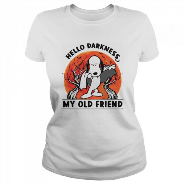 Snoopy Dracula Hello Darkness My Old Friends  Classic Women's T-shirt