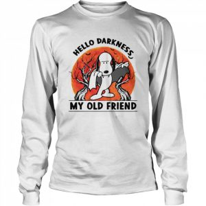 Snoopy Dracula Hello Darkness My Old Friends  Long Sleeved T-shirt