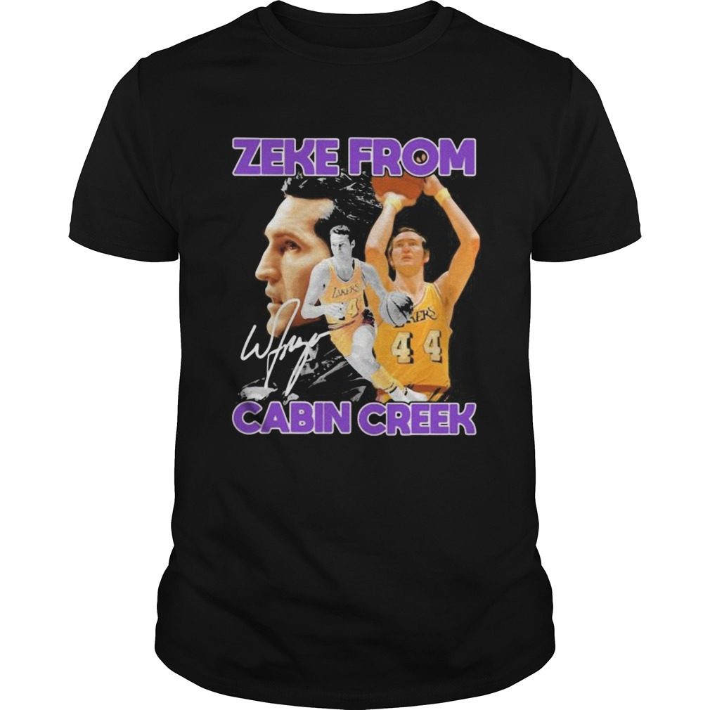 Zeke from cabin creek los angeles lakers basketball signature  Unisex