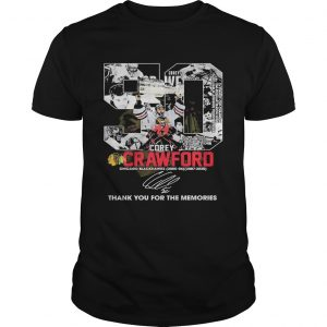 50 Corey Crawford Chicago Blackhawks Thank You For The Memories  Unisex