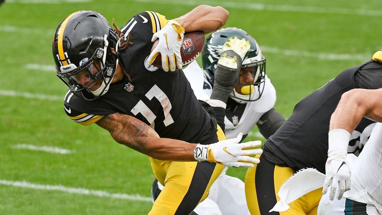 Chase Claypool erupts with 4-TD game for unbeaten Pittsburgh Steelers