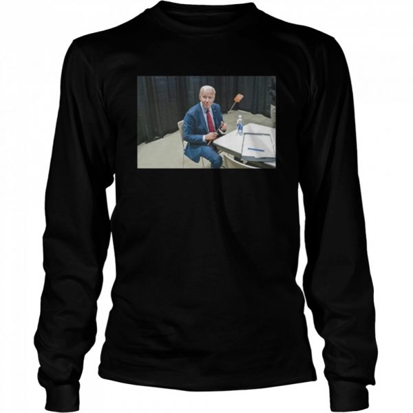 Joe Biden With The Fly  Long Sleeved T-shirt