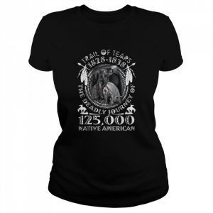 Trail Of Tears 1828 1838 The Deadly Journey Of 125000 Native American  Classic Women's T-shirt