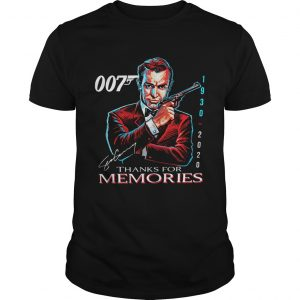 007 Sean Connery 1930 2020 Thank You For The Memories Signature  Unisex