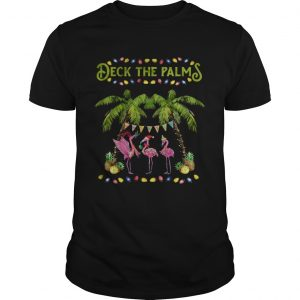 Deck The Palms Merry Flamingo Christmas  Unisex