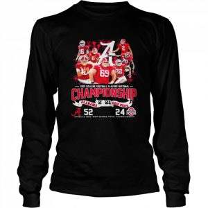 2021 College Football Playoff National Championship Alabama Win Ohio State  Long Sleeved T-shirt