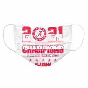 2021 National Championship Miami Alabama Crimson Tide  Cloth Face Mask