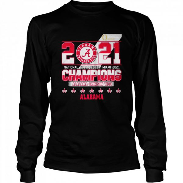 2021 National Championship Miami Alabama Crimson Tide  Long Sleeved T-shirt