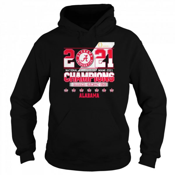 2021 National Championship Miami Alabama Crimson Tide  Unisex Hoodie