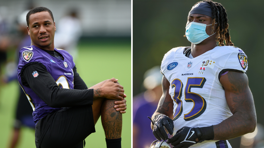 Ravens CB Marcus Peters, RB Gus Edwards suffer torn ACLs in practice